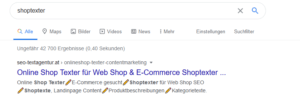 Screenshot 2020 07 15 shoptexter Google Suche -  2020