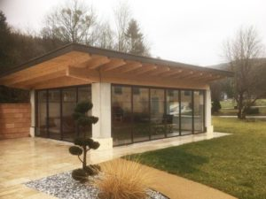 gartenhaus in oberoesterreich mit schiebeelementen von schmidinger - 2021